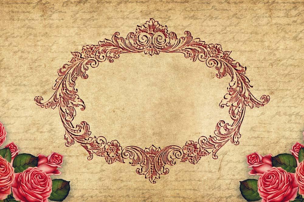 ornament und rosen auf gewebe