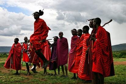 Tanzende Massai