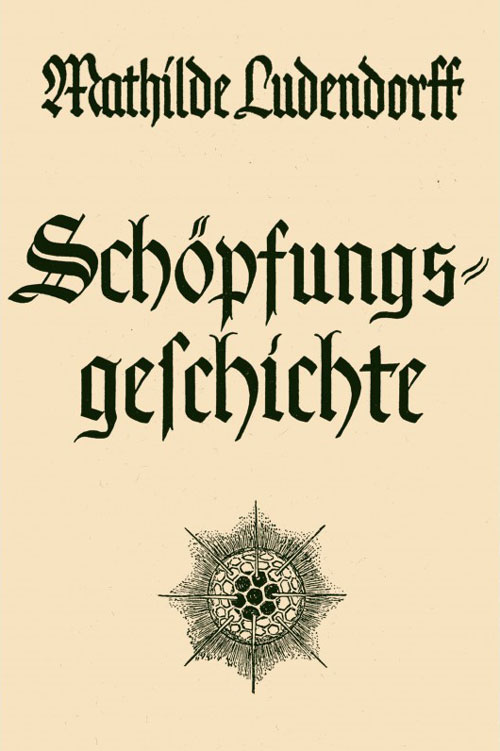 """Cover """"Schöpfungsgeschichte"""" Mathilde Ludendorff"""