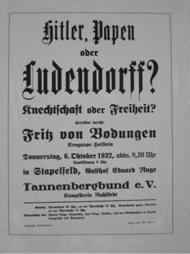 Hitler Papen oder Ludendorff?