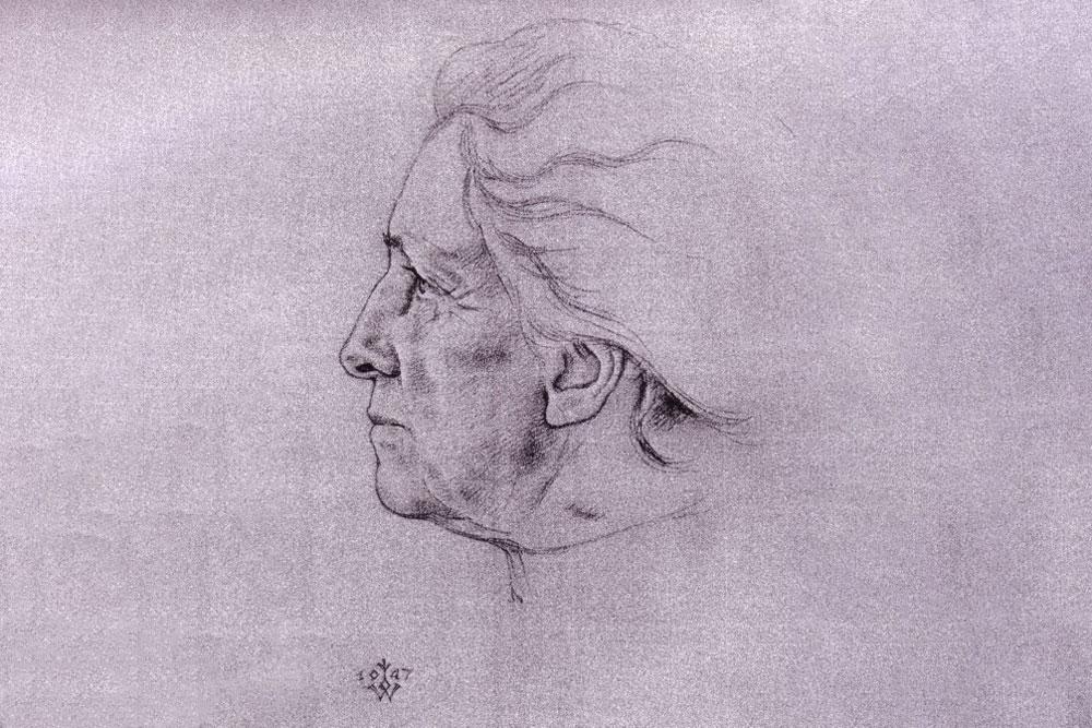 Zeichnung von Mathilde Ludendorff