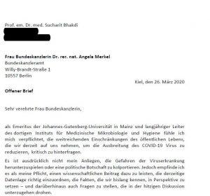 Offener Brief von Prof. Bhakdi an Merkel